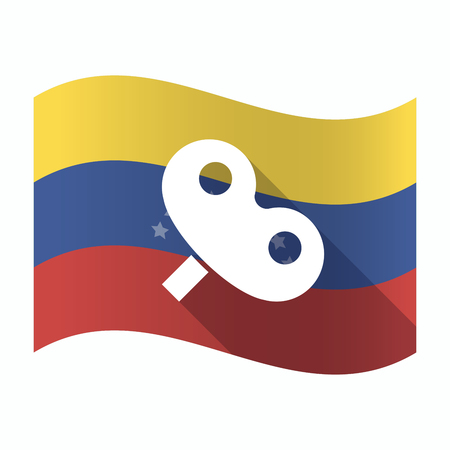 Illustration of an isolated Venezuela waving flag with a toy crank