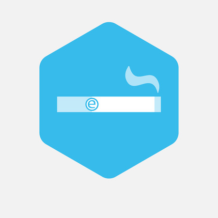 background e cigarette: Illustration of an isolated hexagon button with an electronic cigarette