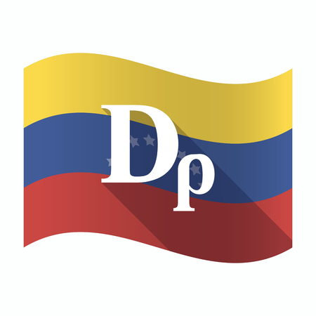 Illustration of an isolated Venezuela waving flag with a drachma currency sign