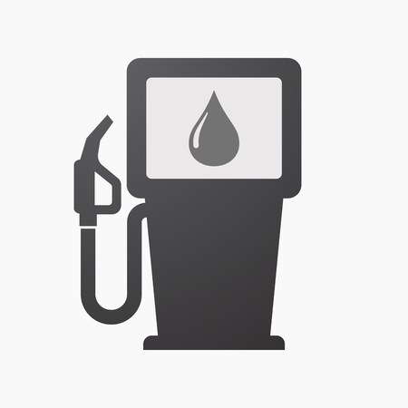 Illustration of an isolated fuel pump with a fuel drop