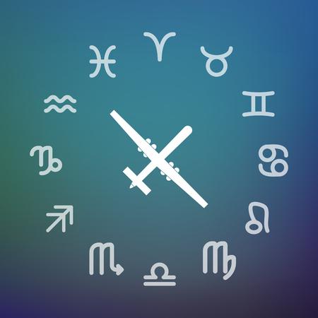 Signes horoscope de cercle Banque d'images - 88116049