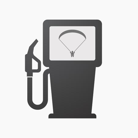 Illustration d'une pompe à carburant isolée avec un parapente. Banque d'images - 88116059