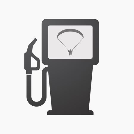 Illustration of an isolated fuel pump with a paraglider. Illustration