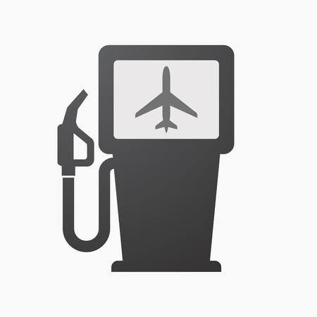 飛行機で孤立した燃料ポンプの図  イラスト・ベクター素材