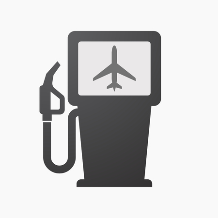Illustration of an isolated fuel pump with a plane