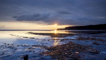 Sunset at Kimmeridge Bay in Dorset