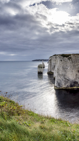 geological feature: Coastal geological feature on the Jurassic Coast,Dorset Stock Photo