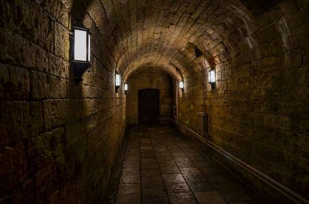 A secret, underground passage in the castle