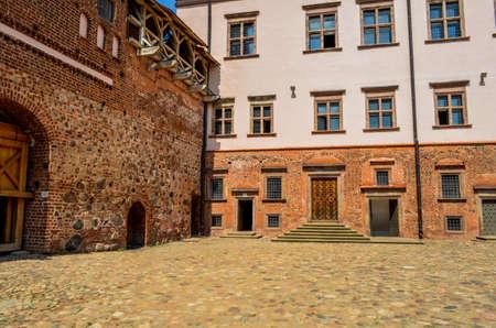 The courtyard in the historic castle, brumado good weather Redakční