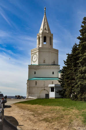 The Kazan Kremlin clock tower, the view from the observation deck Stock Photo