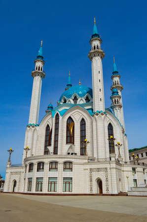 Mosque in Kazan Kul Sharif clear Sunny day Reklamní fotografie
