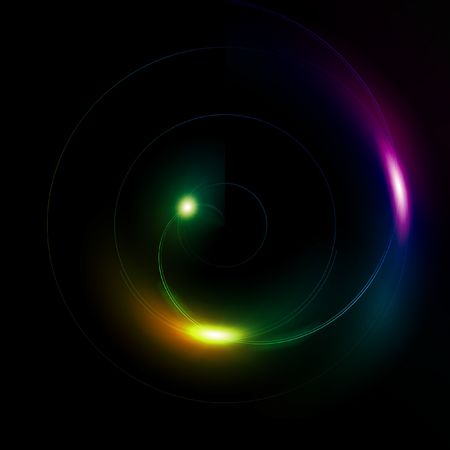 Illustration of a multi color sphere on a black background Stock Photo