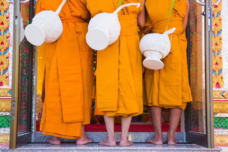 ordinate: New Monk, Monks ordination ceremony in Buddhism of Thailand  Stock Photo