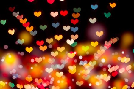 Heart bokeh background  Valentine photo