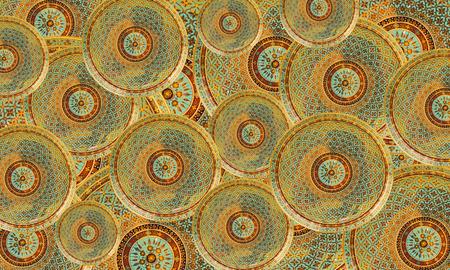 beautiful ceramic art background made by hand. photo