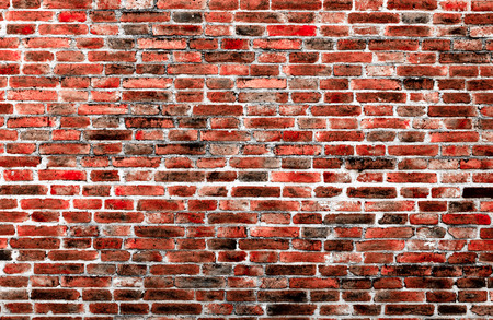 Background of old vintage brick wall texture photo