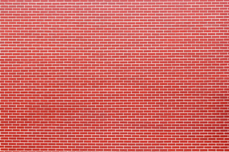 splotches: Modern brick wall. Brick red wall a background. Stock Photo