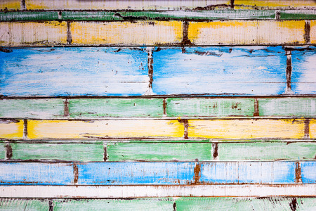 Decorative and colorful wood wall photo