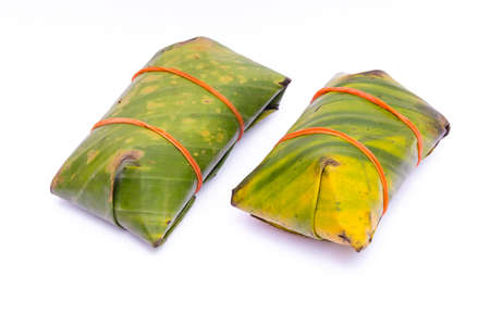 food preservation: pickled pork sausage  traditional Thai food preservation on white background Stock Photo
