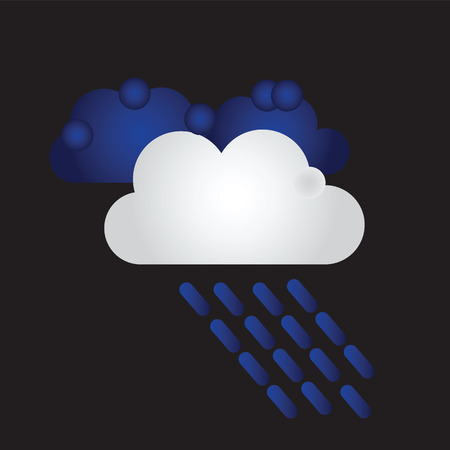 raining: Raining. Vector image with dark clouds in wet day
