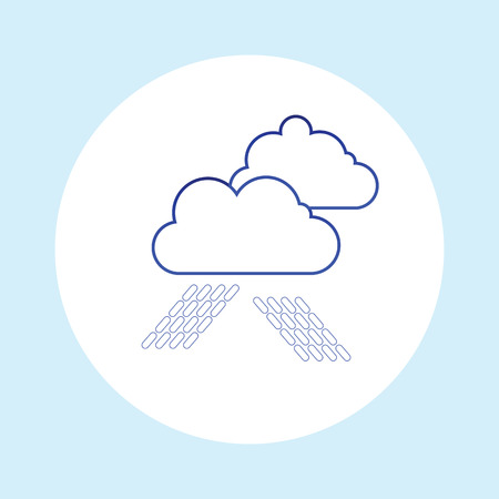 raining: Raining. Vector image with clouds in wet day Illustration