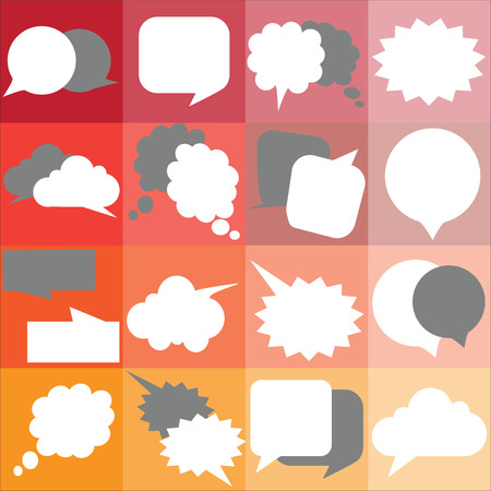 social actions: Collection of colorful speech bubbles