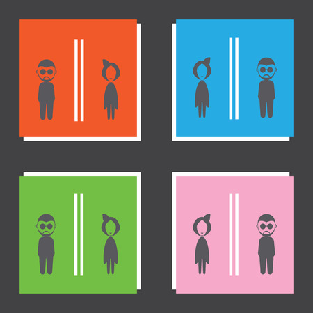 toilet icons: Toilet icons set great for any use. Illustration