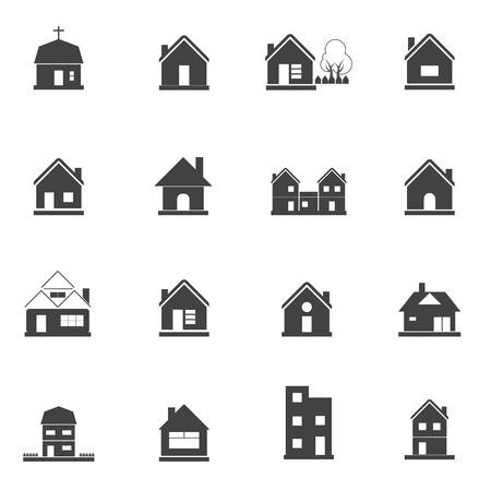 houses: Houses icons set Illustration