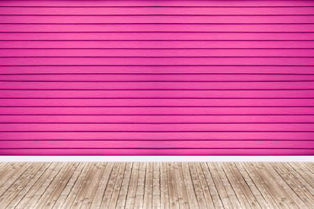 wooden floors: Background of pink walls and old wooden floors.