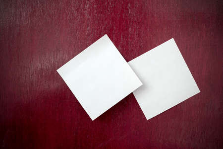 note paper: white note paper on textured background Stock Photo
