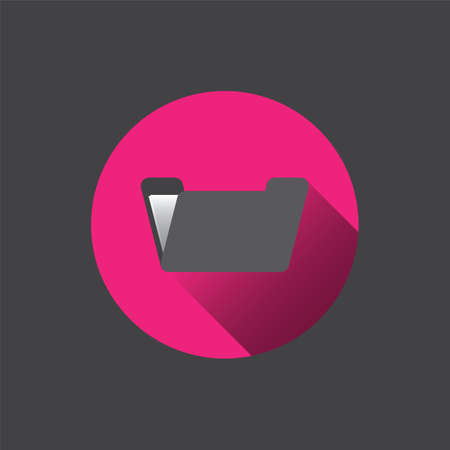 archiving: Flat folder icon. Vector illustration Illustration