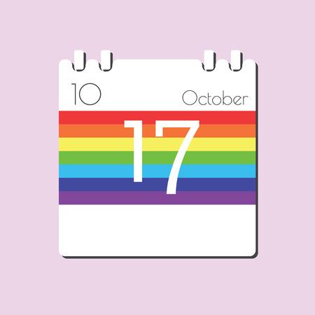 17: Rainbow Calendar icon - Oct 17