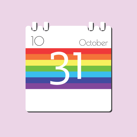 31: Rainbow Calendar icon - Oct 31