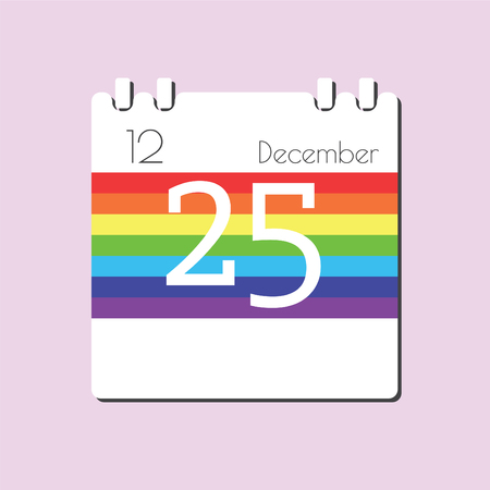 dec: Rainbow Calendar icon - Dec 25