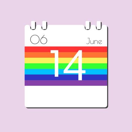 14: Rainbow Calendar icon - Jun 14