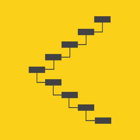 ways to go: Stair icon on yellow background