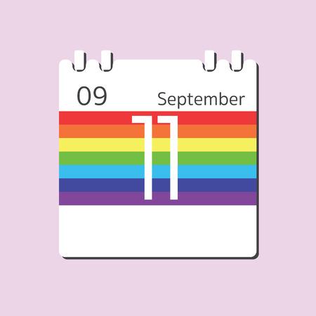 sep: Rainbow Calendar icon - Sep 11