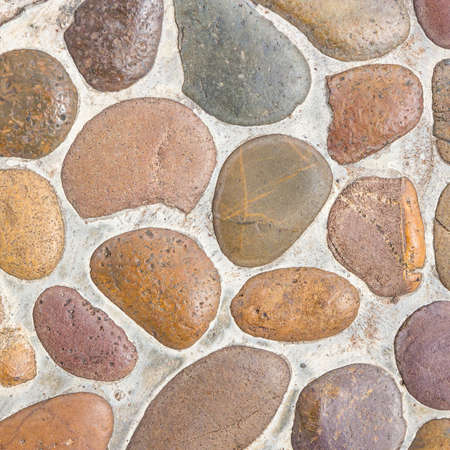 rock stone: Wall round stone rock texture and seamless background