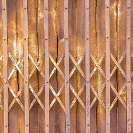 corrode: steel slide door - old texture background Stock Photo