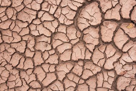 soil texture: Cracks in the dried soil in arid season