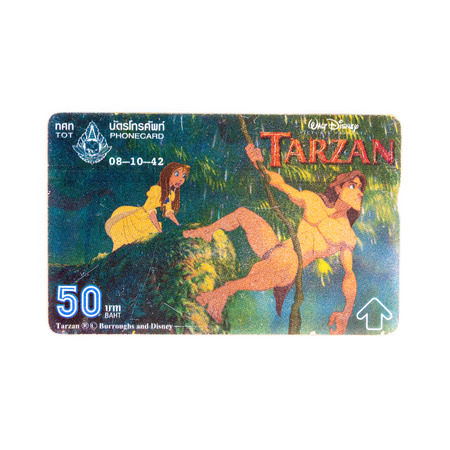 tarzan: Thailand - October 8, 1998 : Thailand telephone card. Very popular nearly 20 years ago. Current deprecated