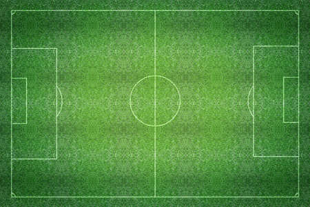 terrain foot: Un terrain de football de football textur� de gazon artificiel.