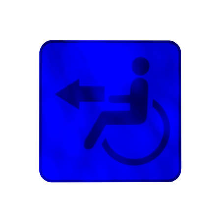 wheelchair access: Handicapped wheelchair access logo sign.