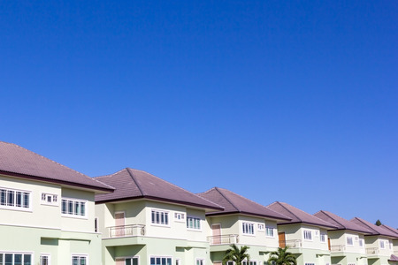 suburb: Row of new houses in suburb