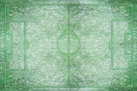 campo di calcio: Un artificiale strutturato calcio in erba e campo in inverno neve Archivio Fotografico