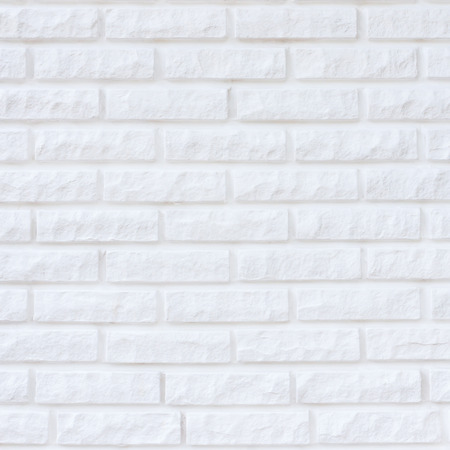 White brick wall for texture or background Stock Photo