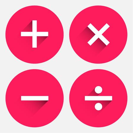 Basic Mathematical symbols. Vector illustration EPS 10.