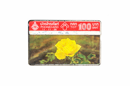 deprecated: Thailand - November 11, 1992 : Thailand telephone card. Very popular nearly 20 years ago. Current deprecated