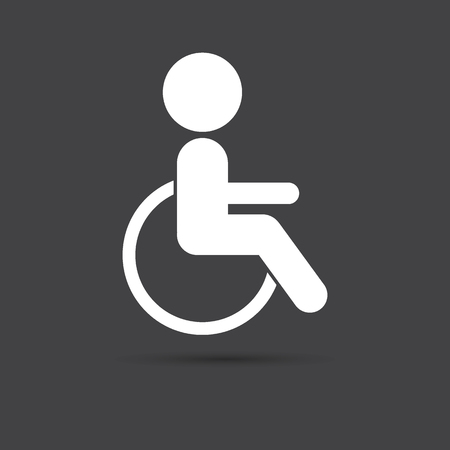 disabled sign: Disabled sign icon. Disabled symbol for your design.