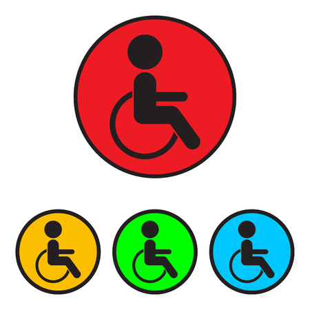 physical impairment: Disabled sign icon. Disabled symbol for your design.